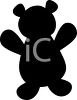 Animal Silhouette of a Teddy Bear clipart