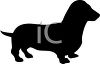 Animal Silhouette of a Dachshund clipart