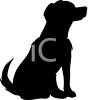 Animal Silhouette of a Family Dog clipart