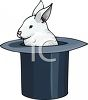 Rabbit in a Magic Hat clipart