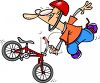 Guy Doing a BMX Bike Trick clipart