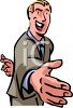 Man with His Fingers Crossed Behind His Back clipart