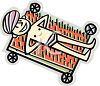 Man Laying on a Bed of Nails clipart