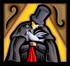 Magician Holding a Dove clipart