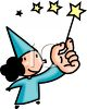 Girl Fairy with a Magic Wand clipart