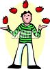 Guy Juggling Tomatoes clipart
