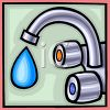 Leaky water faucet clipart