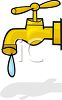 Leaking water faucet clipart