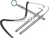 Dental Tools, Mirror and Picks clipart