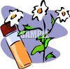 Vial of Essential Oil Made with Flowers clipart