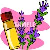 Vial of Essential Oil Made with Lavender clipart