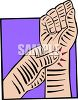 Person Taking Their Pulse clipart