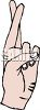 Crossed Fingers clipart