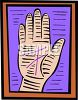Hand with Reflexology Diagram clipart