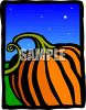 Pumpkin at Night clipart