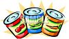 Tin Cans of Vegetables clipart