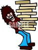 Long Haired Pizza Delivery Boy clipart