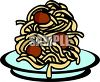 Pile of Spaghetti and Meatballs clipart