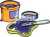 Grape Jam Spread on a Piece of Bread clipart