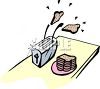 Toast Popping Out of a Toaster clipart
