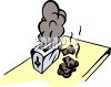 Toast Burning in a Toaster clipart