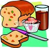 Loaf of Fruited Bread clipart