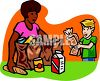 Boy Helping Put Away Groceries clipart