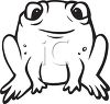 Black and White Cartoon Frog clipart