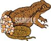 Toad Carrying Eggs on Her Back clipart