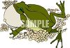 Mother Bullfrog with Lots of Eggs clipart
