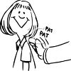 Girl Getting a Pat on the Back for a Job Well Done clipart