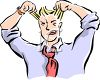 Frustrated Man Pulling His Hair Out clipart