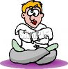 Cartoon of a Crazy Man Wearing a Straight Jacket clipart