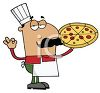 Occupation Cartoon of a Pizza Maker clipart