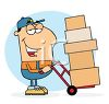 Occupation Cartoon of a Mover or Delivery Man clipart