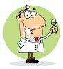 Occupation Cartoon of a Dentist clipart