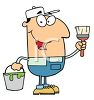 Occupation Cartoon of a House Painter clipart