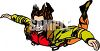 Daring Woman in a Free Fall While Skydiving clipart