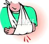 Person with Their Arm in a Sling clipart