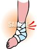 Painful Sprained Ankle clipart
