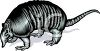 Armadillo with Shading clipart