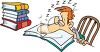 Guy Fell Alseep While Studying clipart