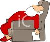 Santa Passed Out in His Easy Chair clipart