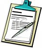 Clipboard with a Pen and Documents clipart