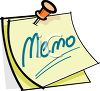 Memo Stuck with a Tack clipart