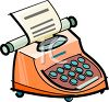 Electric Typewriter  clipart