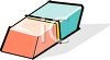 Two Sided Eraser-Pencil or Pen clipart