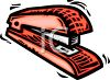 Red Plastic Stapler clipart