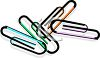 Color Coded Paperclips clipart