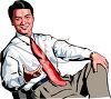 Smiling Businessman Sitting in a Chair clipart